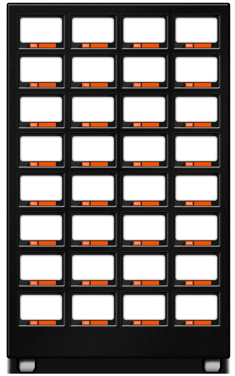 Vending lockers 32-cell for adult products