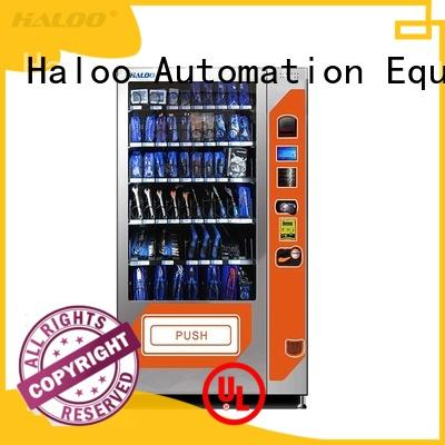 Haloo ads screen snack dispenser machine for snack