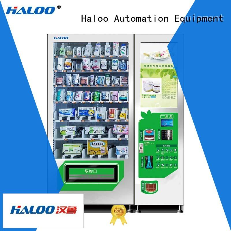 Haloo cost-effective touch screen drink machine manufacturer for merchandise