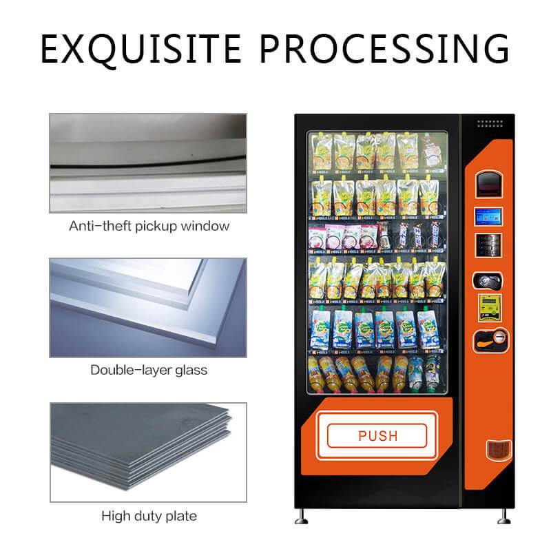 HL-DLE-10C 24h self-service snack&cold drink vending machine