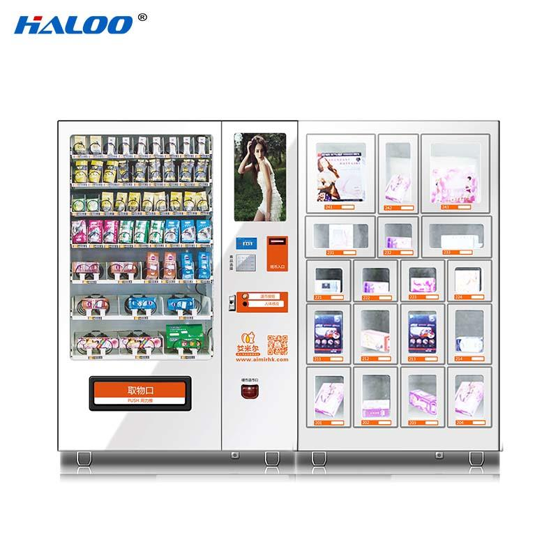 HL-DRY-10C-001 Sex product condom automatic vending machine with 21.5inches ads touch screen