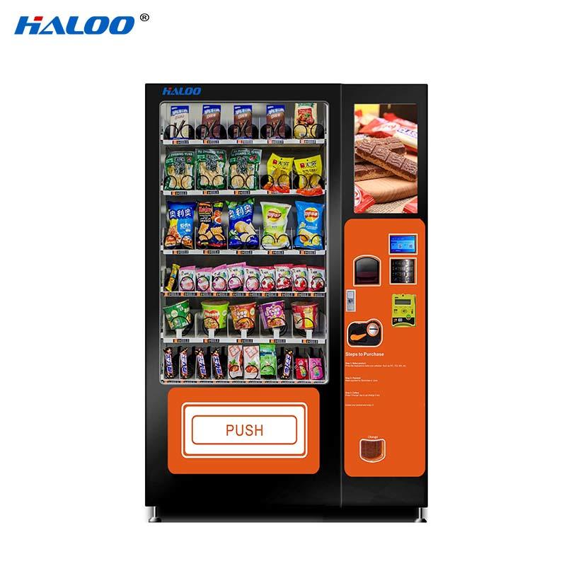 HL-DLY-10C snack drink automatic vending machine with 21.5inches touchscreen