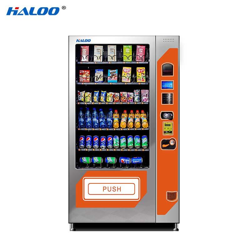 tea vending machine 21.5inches ads screen for snack Haloo