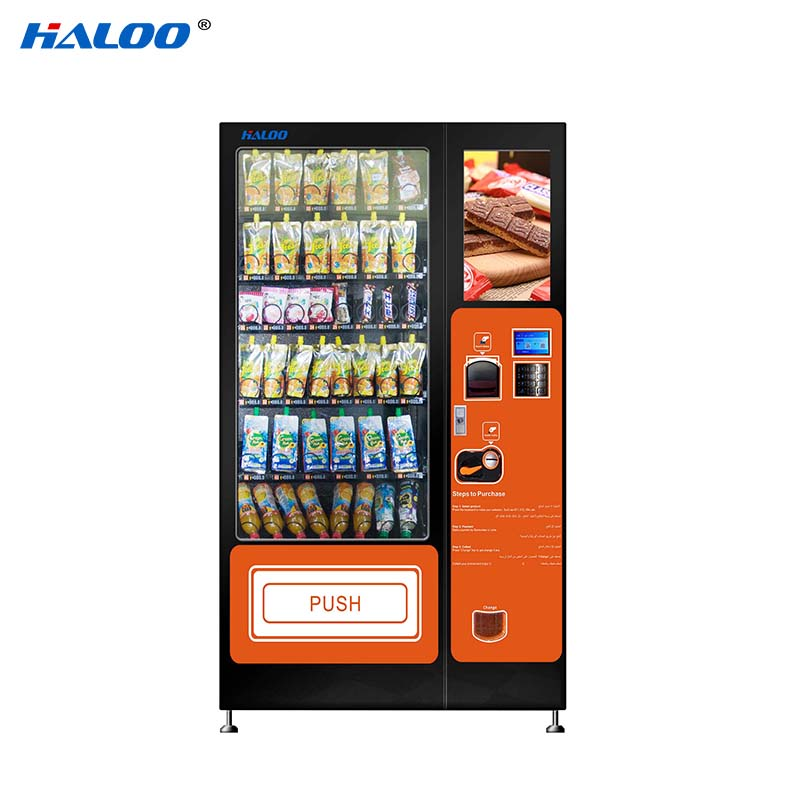 Haloo latest soda snack vending factory direct supply for food-1