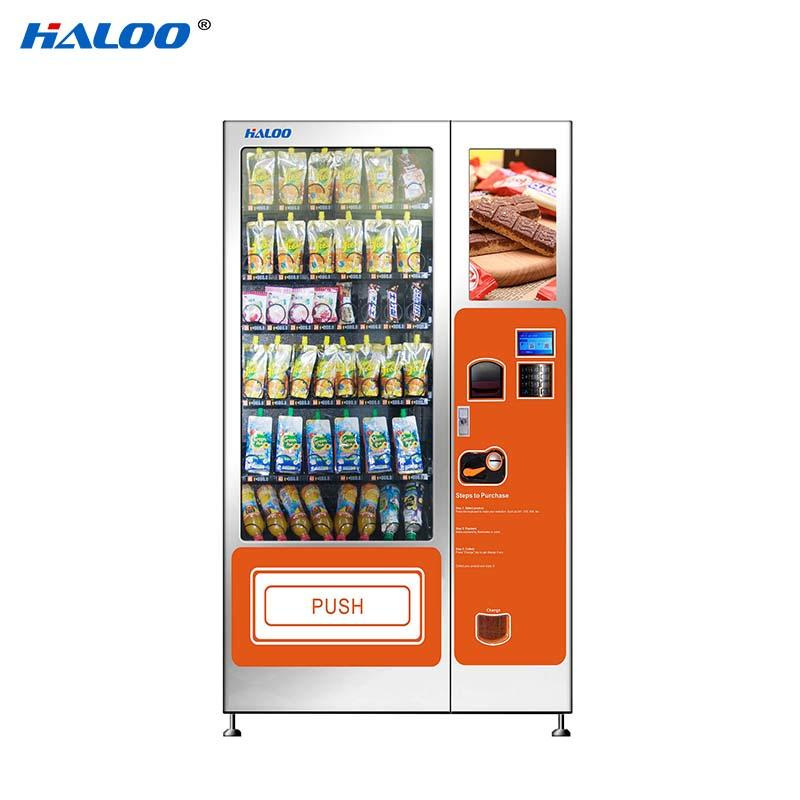 Haloo selfservice cold drink vending machine design for snack