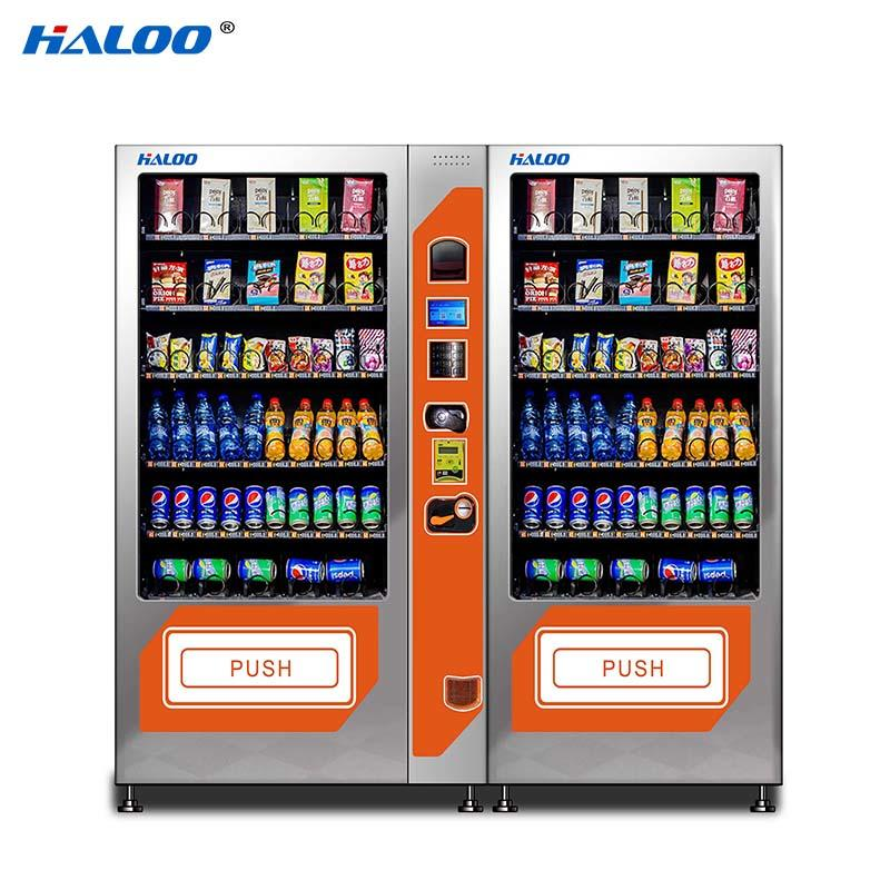 DLE-10C+PLE-10A Drink &snack vending machine black