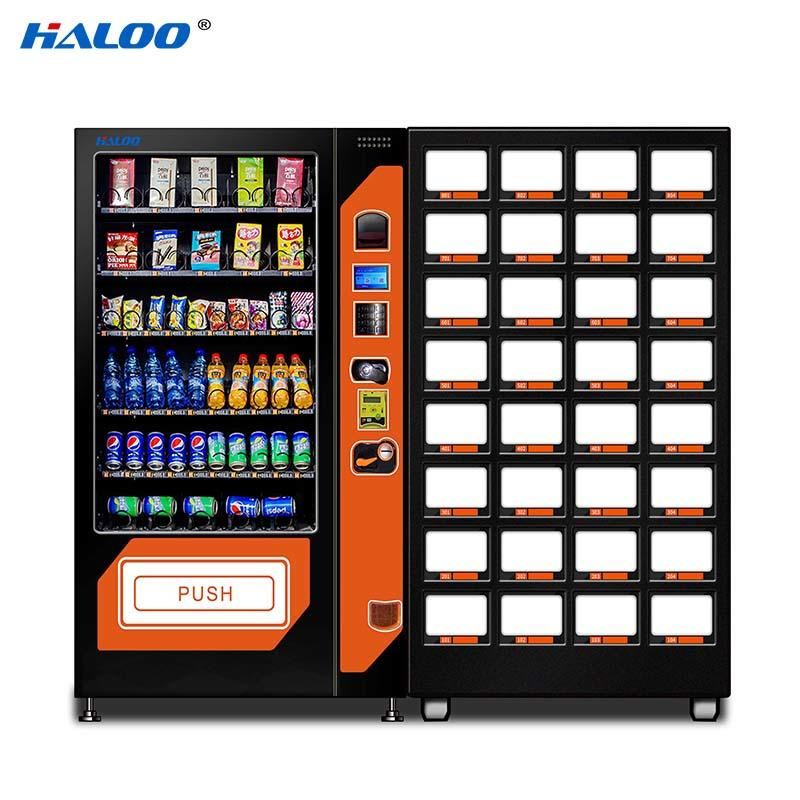 DLE-10C+CRE-4A Drink &snack vending machine black