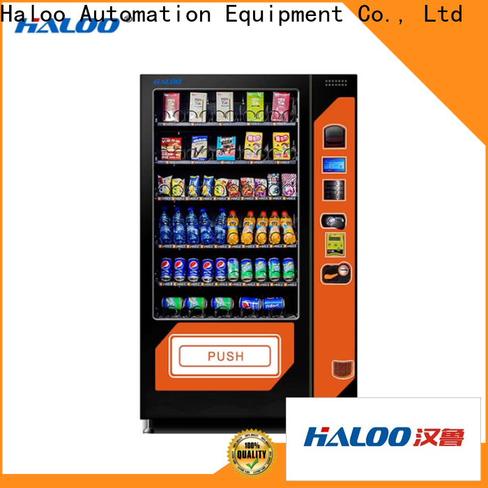 Haloo beverage vending machine with good price for snack
