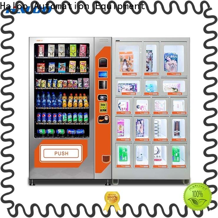 Haloo ads touch screen condom machine wholesale for pleasure