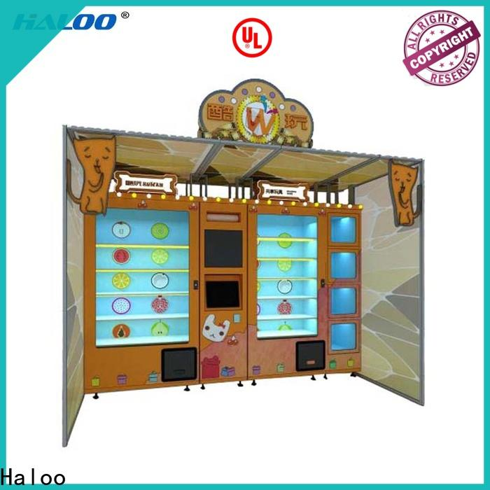 Haloo automatic robot vending machine manufacturer for lucky box gift
