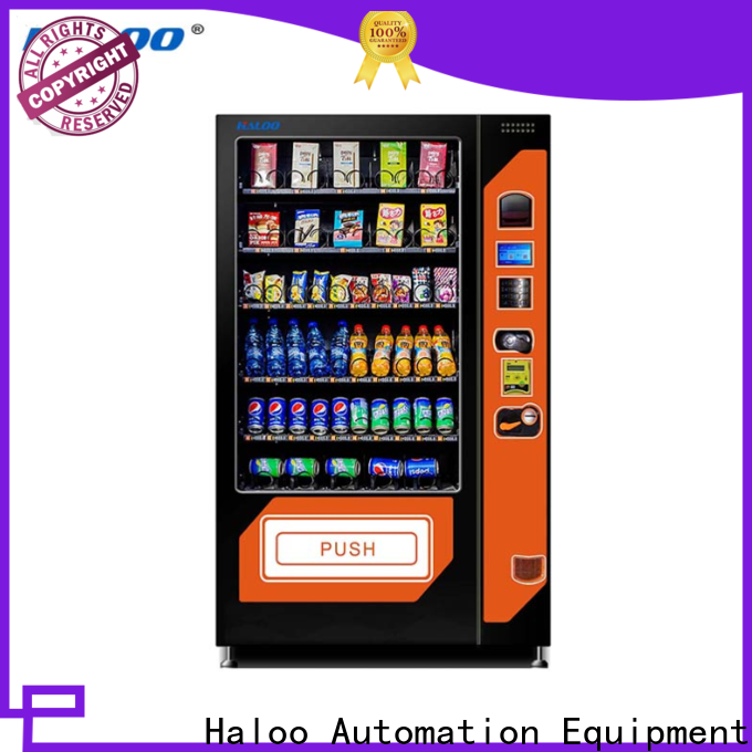 Haloo new cold drink vending machine design for snack