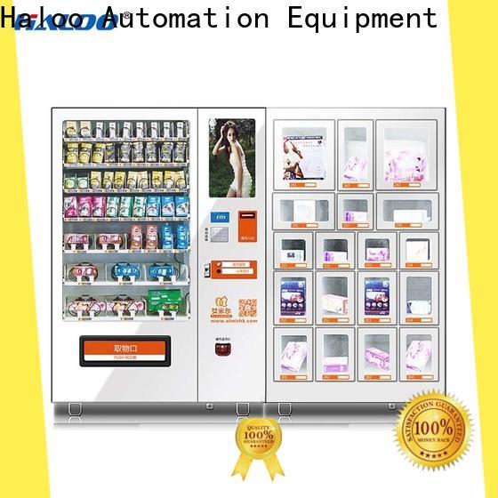 Haloo ads touch screen condom dispenser supplier for pleasure