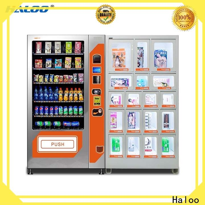 Haloo condom vending machine supplier for shopping mall