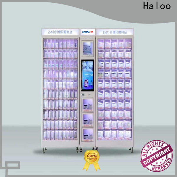 Haloo high capacity food vending machines manufacturer for adult toys