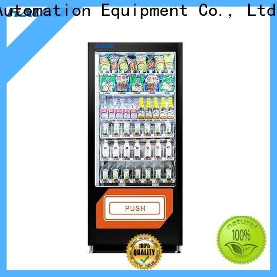 Haloo coke vending machinee design for snack