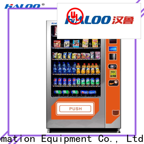 Haloo combo vending machines customized for drink
