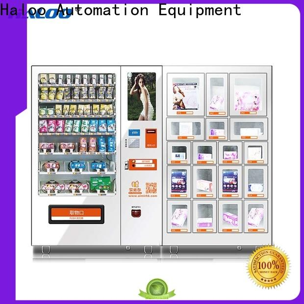Haloo ads touch screen condom machine supplier for pleasure