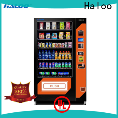 Haloo latest combo vending machines design for snack