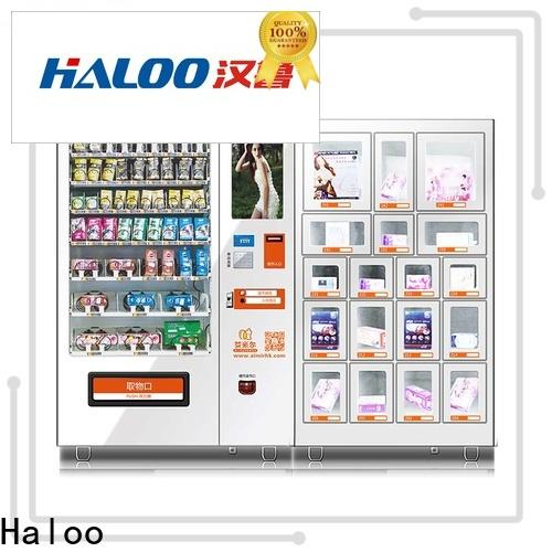 Haloo ads touch screen condom machine wholesale for adults