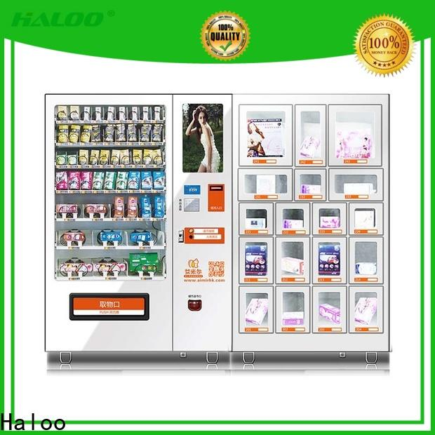 Haloo durable condom dispenser supplier for shopping mall