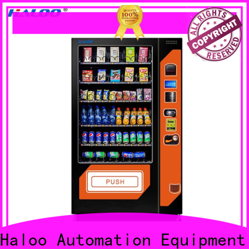 Haloo best cold drink vending machine factory direct supply for snack