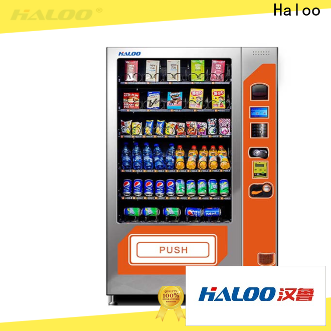 Haloo combo vending machines factory direct supply for food