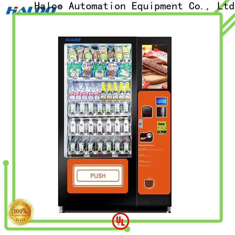Haloo large capacity fruit vending machine factory for drinks