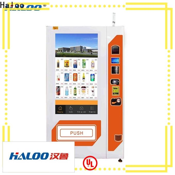 Haloo soda vending machine manufacturer for shopping mall