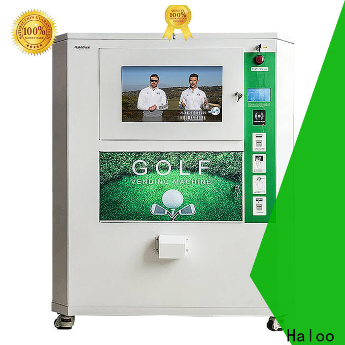 Haloo automatic lucky box vending machine design for garbage cycling