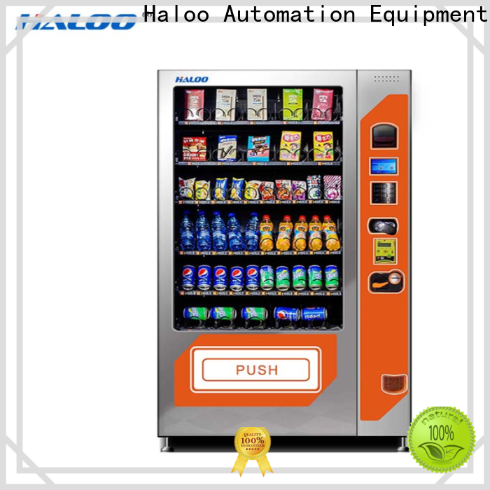 Haloo top combo vending machines manufacturer for drink