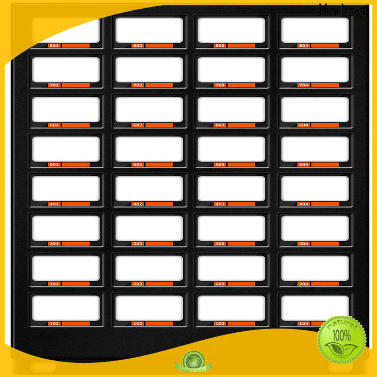 Haloo ads touch screen condom dispenser factory direct supply for shopping mall