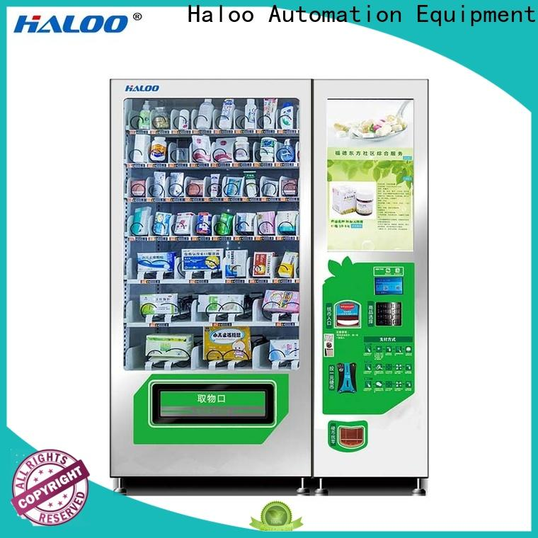 Haloo smart vending machine price wholesale for merchandise