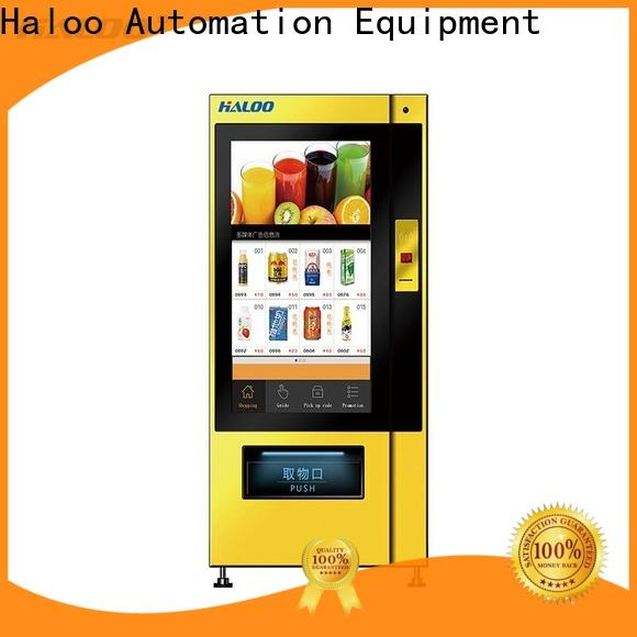 Haloo professional vending machine price wholesale for shopping mall