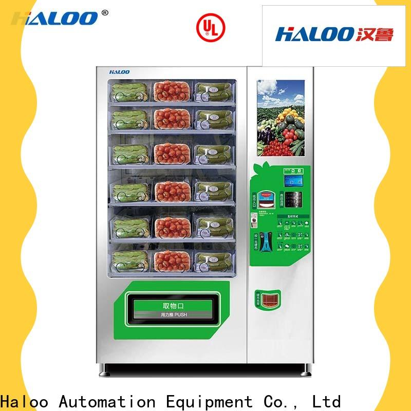 Haloo durable fruit vending machine factory for red wine