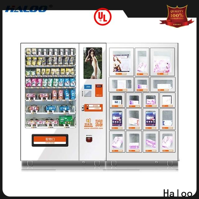 Haloo 24-hour condom vending machine customized for shopping mall