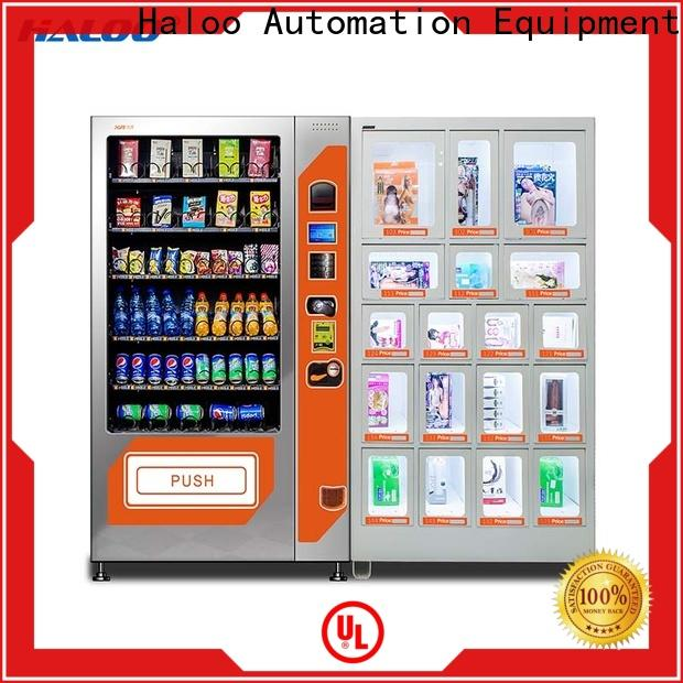 Haloo ads touch screen condom vending customized for shopping mall
