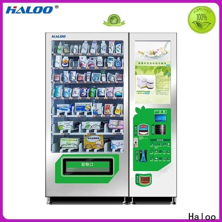 Haloo convenient healthy vending machines wholesale for merchandise