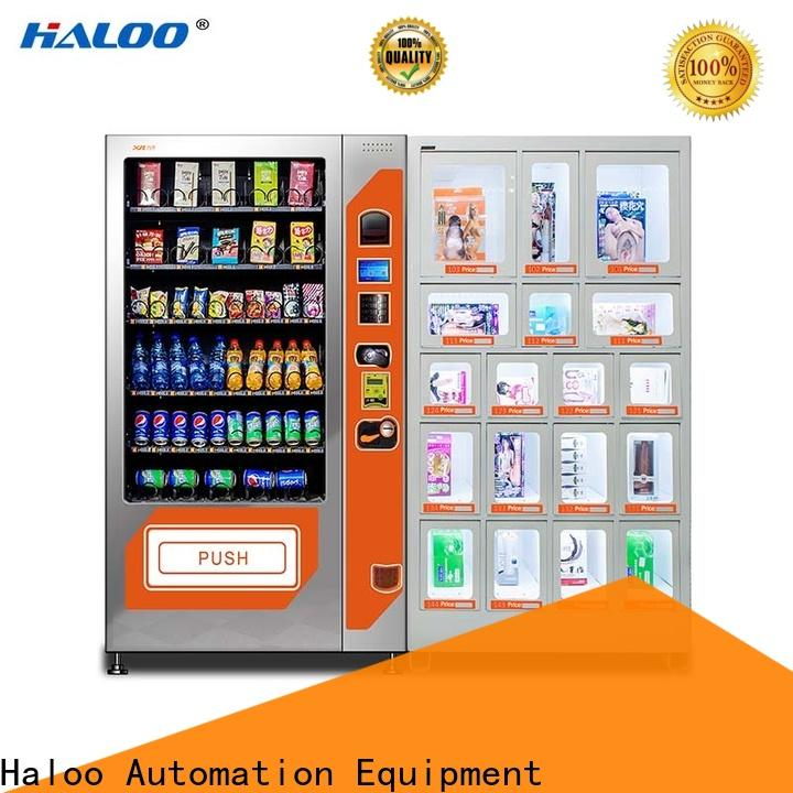 Haloo high quality condom vending machine supplier for adults