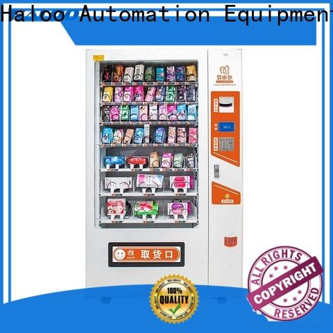 Haloo ads touch screen condom dispenser supplier for adults