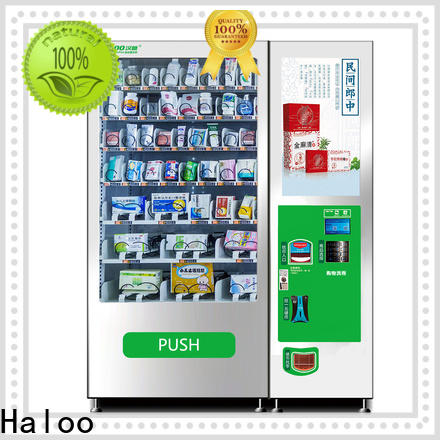 Haloo snack and drink vending machines for sale manufacturer