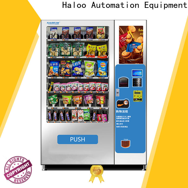 Haloo snack and drink vending machines for sale design
