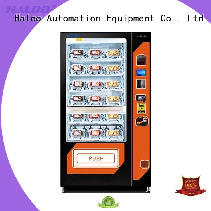 Haloo large capacity sandwich vending machine manufacturer for drinks