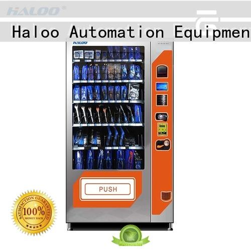 Haloo ads screen combo vending machines manufacturer for snack
