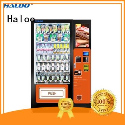 Haloo 50 windows fruit vending machine wholesale for drinks