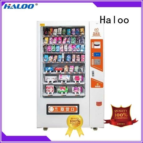 Haloo GPRS remote manage condom machine directly sale for adults