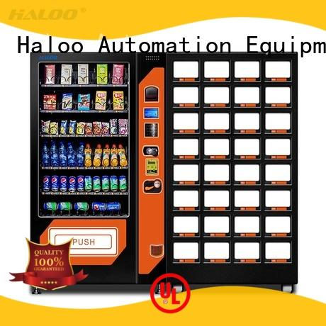 Haloo anti-theft coffee vending machine wholesale for food