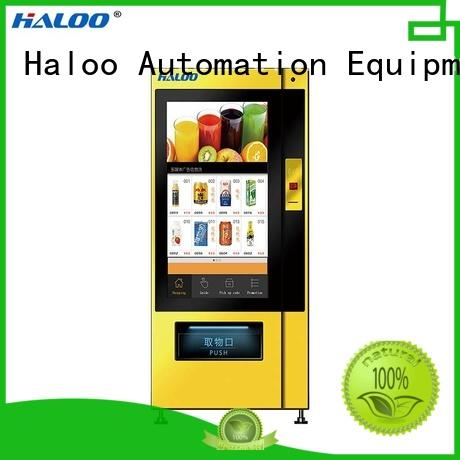 Haloo GPRS remote management snack vending machine factory