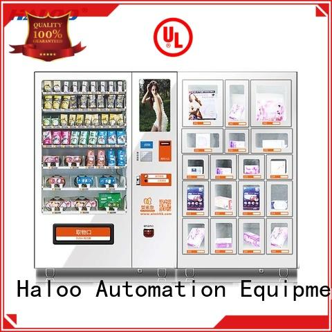 Haloo ads touch screen condom machine customized for shopping mall