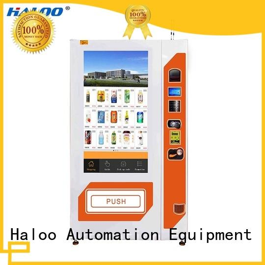 Haloo professional soda vending machine high capacity for merchandise