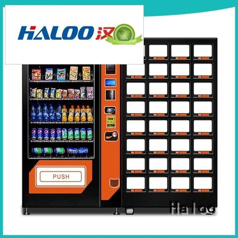 Haloo automatic cold drink vending machine wholesale for food